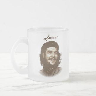 """Che Guevara-Lächeln """"Beifall """" Matte Glastasse"""