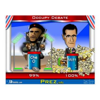Che O und Romney Postkarte