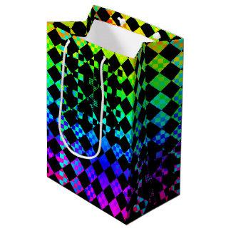 Checkered Drehung [M] Mittlere Geschenktüte