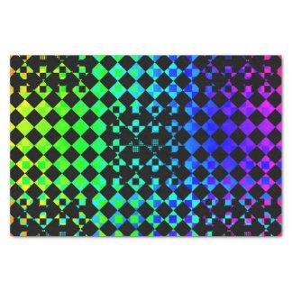 Checkered Drehung Seidenpapier