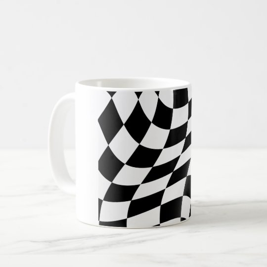 Checkered Flaggen-Schwarzweiss-Tasse Kaffeetasse