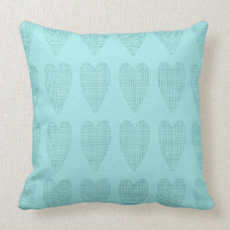 Checkered_Hearts- Baby_Blue_Contemporary _Large Kissen