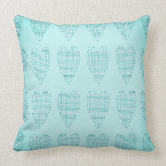 Checkered_Hearts-Faded- Baby_Blue_Contemporary Kissen