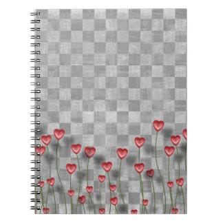 Checkered Liebe-Herz-Notizbuch Notizblock