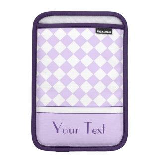 Checkered Muster des kundengerechten lila iPad Mini Sleeve