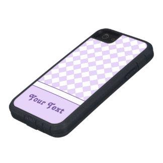 Checkered Muster des kundengerechten lila iPhone 5 Schutzhüllen