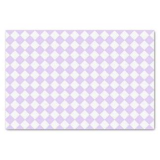 Checkered Muster des lila Diamanten Seidenpapier