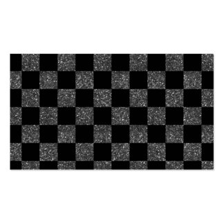 Checkered Muster des schwarzen Glitters des Visitenkarten