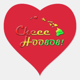 CHEE HOO Herz-Aufkleber