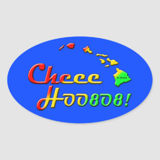 CHEE HOO OVALER AUFKLEBER