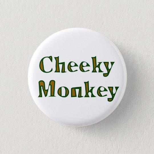 cheeky monkey runder button 3,2 cm