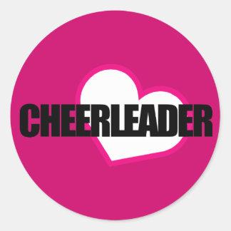 Cheerleader-Aufkleber Runder Aufkleber