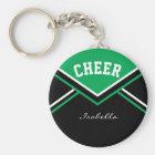 Cheerleader-Ausstattung im Grün Schlüsselanhänger