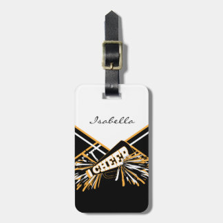 Cheerleader-Ausstattung im Weiß, im Gold u. im Koffer Anhänger