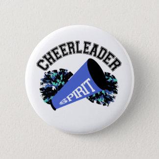 Cheerleader-Blau Runder Button 5,7 Cm