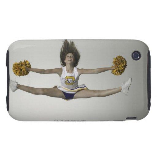 Cheerleader, die Spalten in der mittleren Luft tut Tough iPhone 3 Hülle