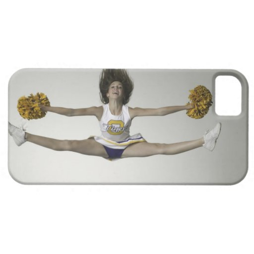 Cheerleader, die Spalten in der mittleren Luft tut Etui Fürs iPhone 5