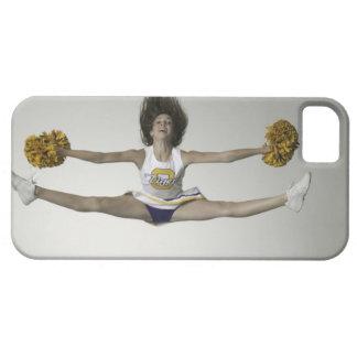 Cheerleader, die Spalten in der mittleren Luft tut iPhone 5 Etuis