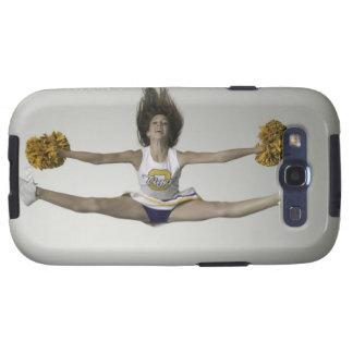 Cheerleader, die Spalten in der mittleren Luft tut Galaxy SIII Hülle