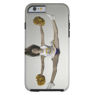 Cheerleader, die Spalten in der mittleren Luft tut Tough iPhone 6 Hülle