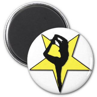 Cheerleader-Flyer-Sternmagnet Runder Magnet 5,7 Cm