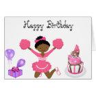 Cheerleader-Geburtstagskarte OM Karte