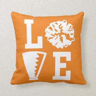Cheerleader-Liebe, orange Beifall-Kissen Kissen