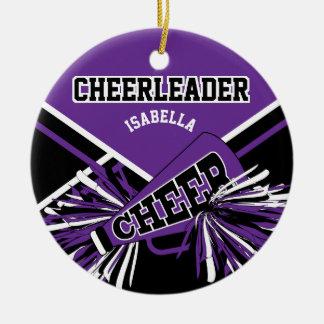 Cheerleader - lila, Schwarzweiss Keramik Ornament
