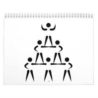 Cheerleader-Pyramide Kalender