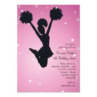 Cheerleader-Silhouette-Einladung 12,7 X 17,8 Cm Einladungskarte