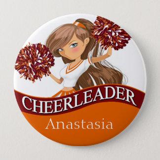 Cheerleader wählen Ihre Schulfarben Burgunder Runder Button 10,2 Cm