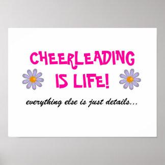 cheerleading ist Lebenplakat Poster