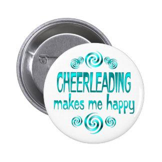 Cheerleading macht mich glücklich runder button 5,1 cm