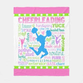 Cheerleading Wort-Pastelltypographie Fleecedecke