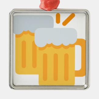 Cheers Emoji Silbernes Ornament