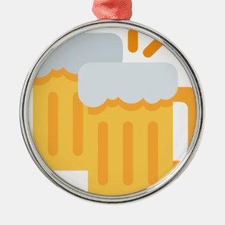 Cheers Emoji Silbernes Ornament