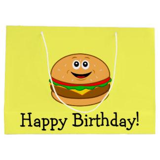 Cheeseburger-alles Gute zum Geburtstag Große Geschenktüte
