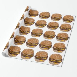 Cheeseburger auf Sesam-Samen-Brötchen Geschenkpapier