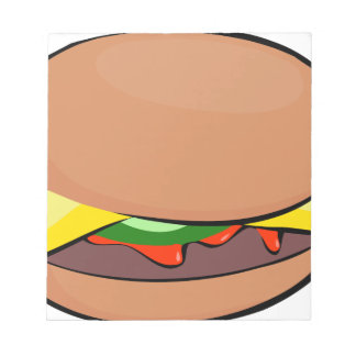 Cheeseburger-Cartoon Notizblock