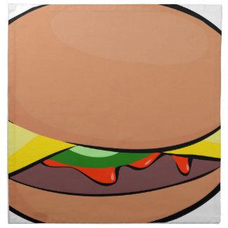 Cheeseburger-Cartoon Stoffserviette