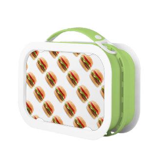 Cheeseburger-Entwurfs-Brotdose für Kinder oder Brotdose