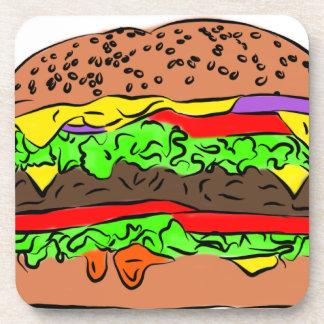Cheeseburger Getränkeuntersetzer
