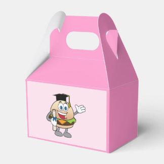 Cheeseburger mit Diplom und Hut Geschenkschachtel