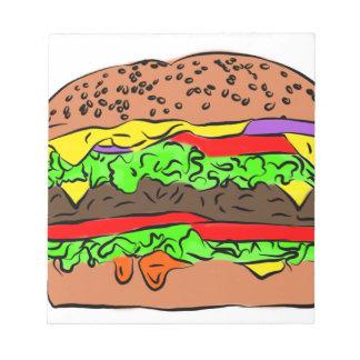 Cheeseburger Notizblock