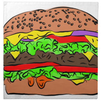 Cheeseburger Serviette