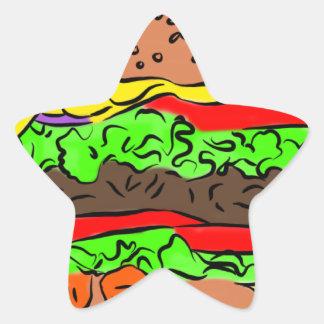 Cheeseburger Stern-Aufkleber