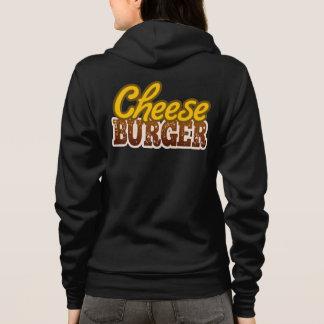 Cheeseburger-Text-Entwurf Hoodie