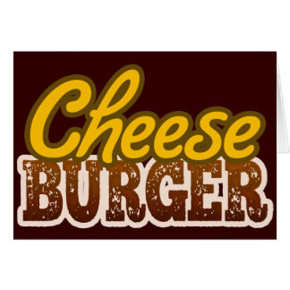 Cheeseburger-Text-Entwurf Karte