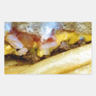 Cheeseburger und Fischrogen Rechteckiger Aufkleber