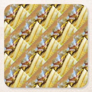 Cheeseburger und Fischrogen Rechteckiger Pappuntersetzer